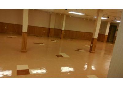 church hall floor cleaning