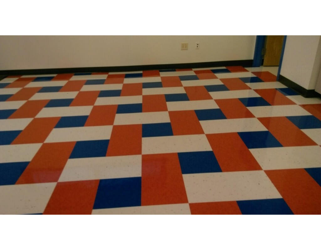 Commercial grade floor tile
