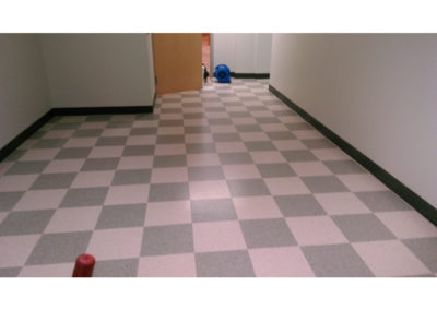 tile before cleaning and wax